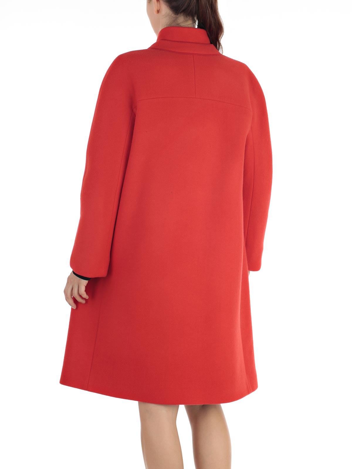 Mantu Coat Ag8016 G02 707 Red Bernardelli Store Online