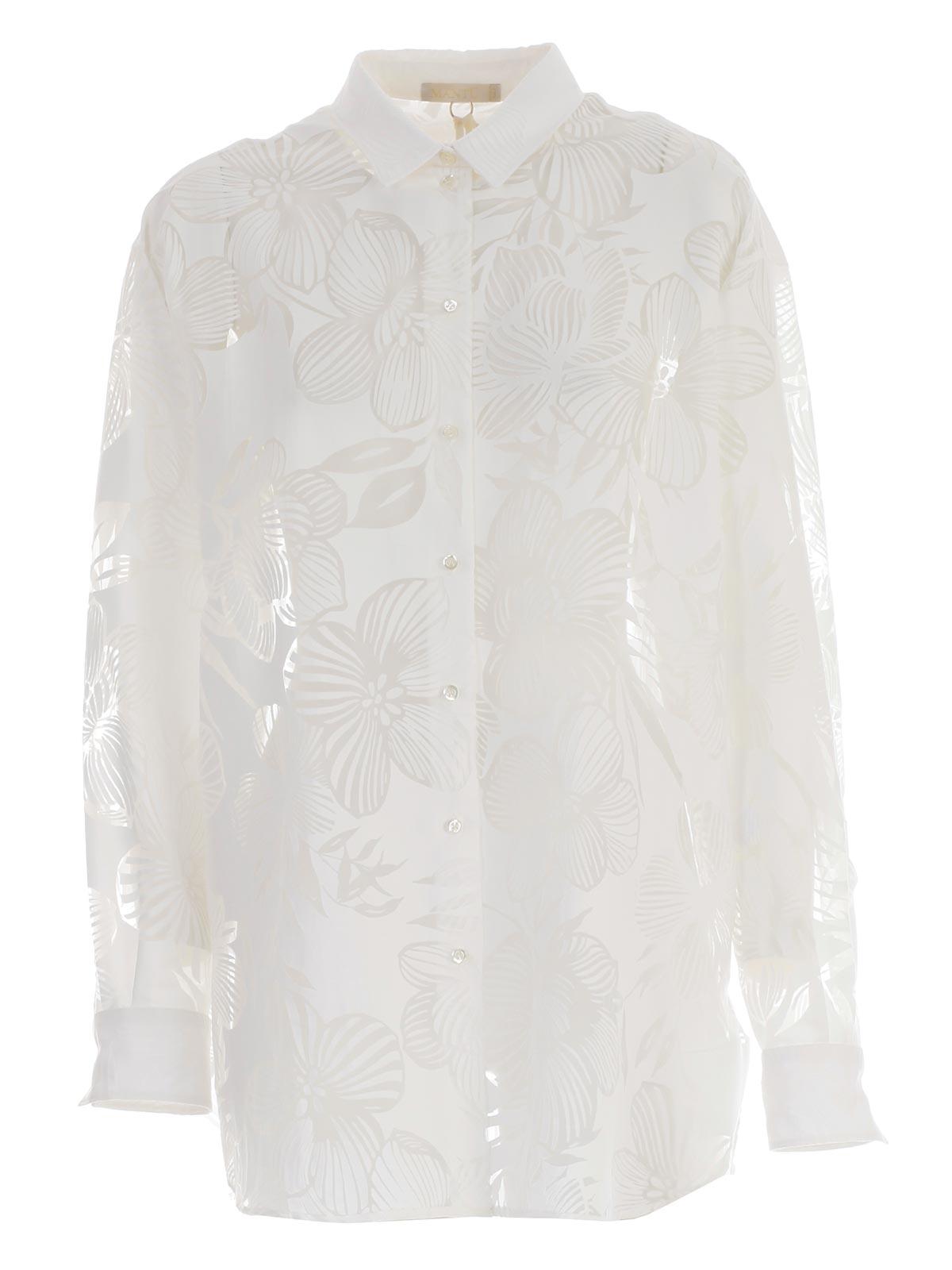 Mantu Shirts Ag1055 G39 101 White Bernardelli Store