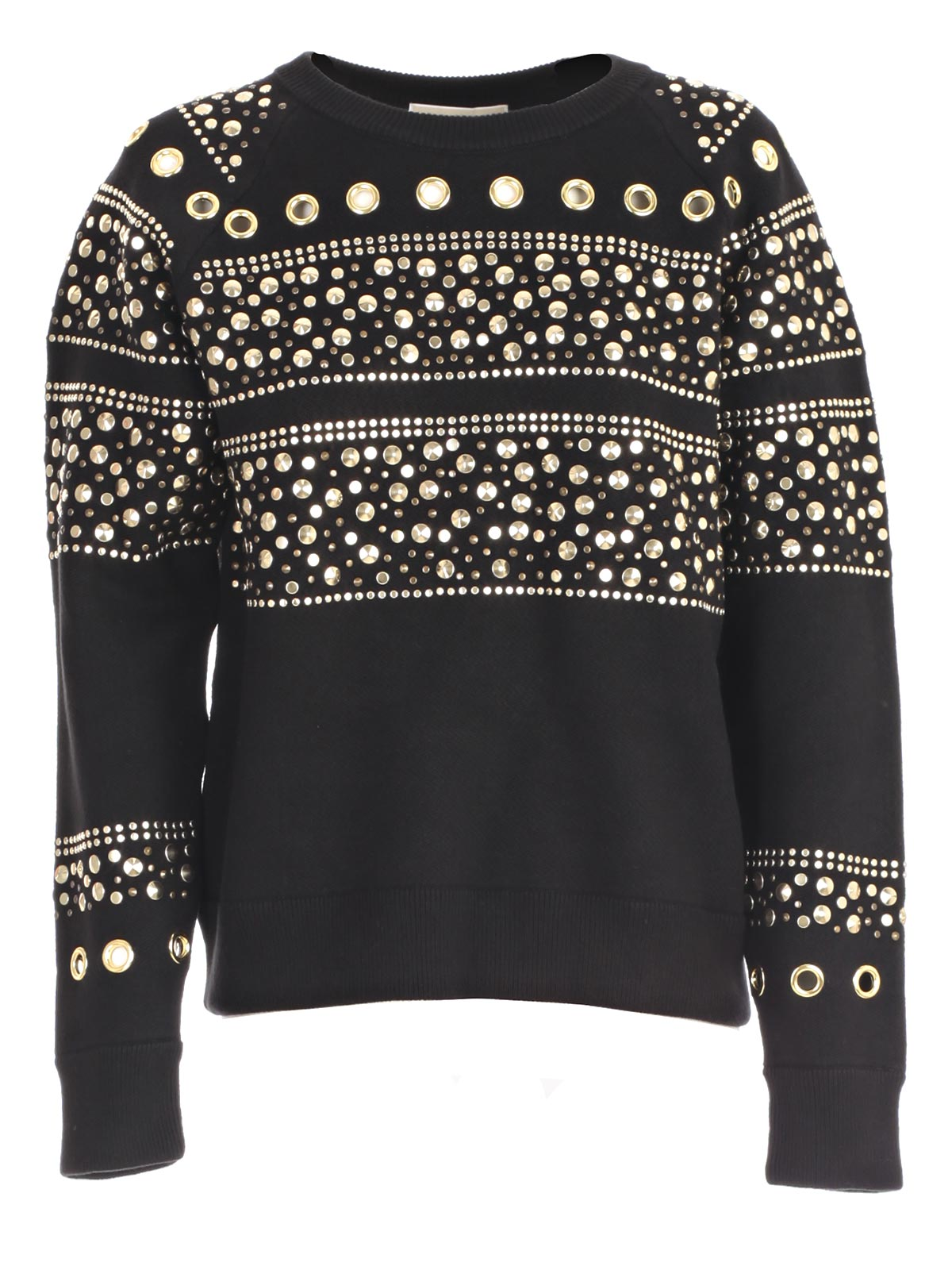 83b337ba72 Michael Michael Kors Sweatshirt MF76NDG4VG - 098 BLACK GOLD ...