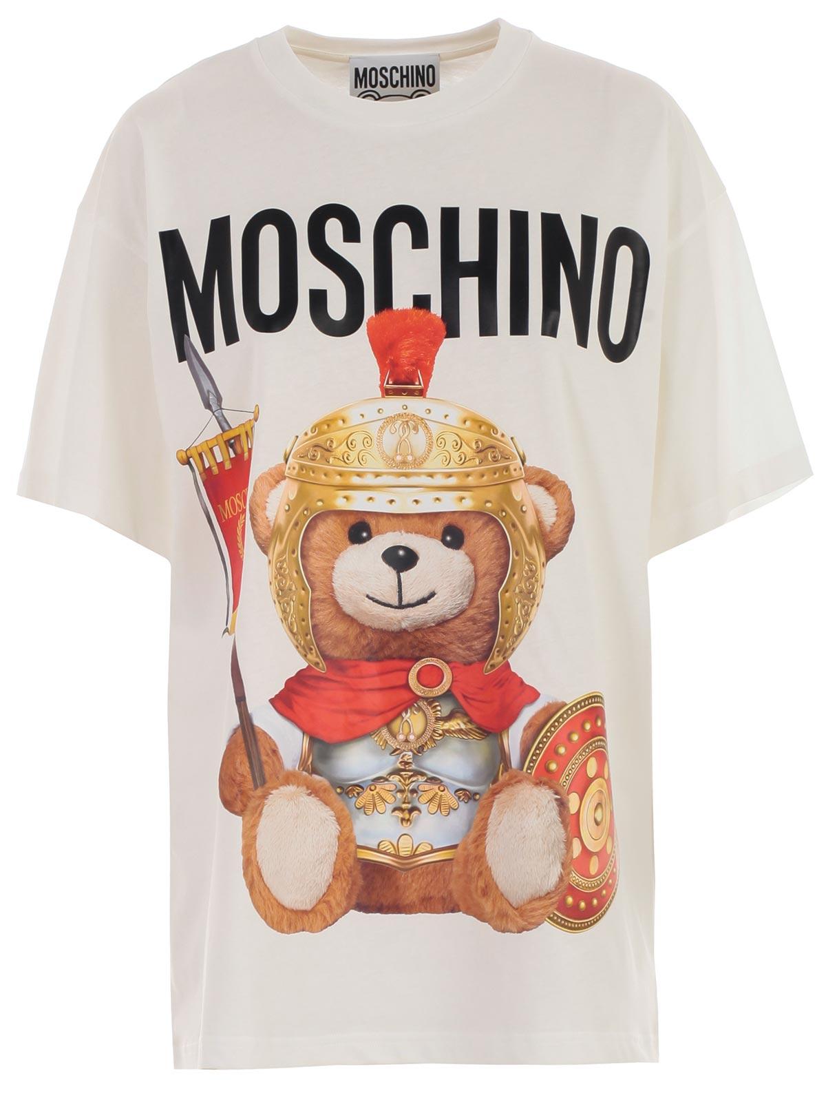 prezzi economici nuovo arrivo acquista per il più recente Moschino T- Shirt V0703.5540 - 1002 FANTASY PRINT WHITE ...