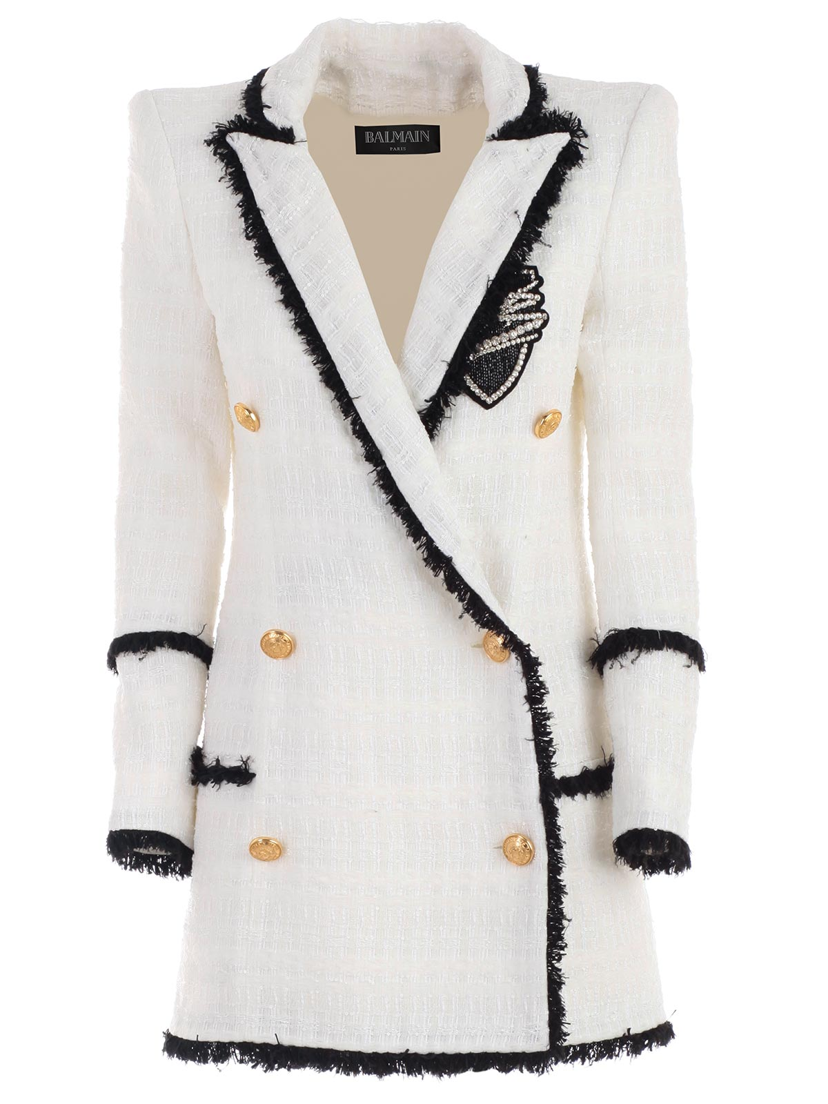 9c61dd6a58 Balmain Blazer RF17221X108 - GBA WHITE BLACK.Bernardelli Store ...