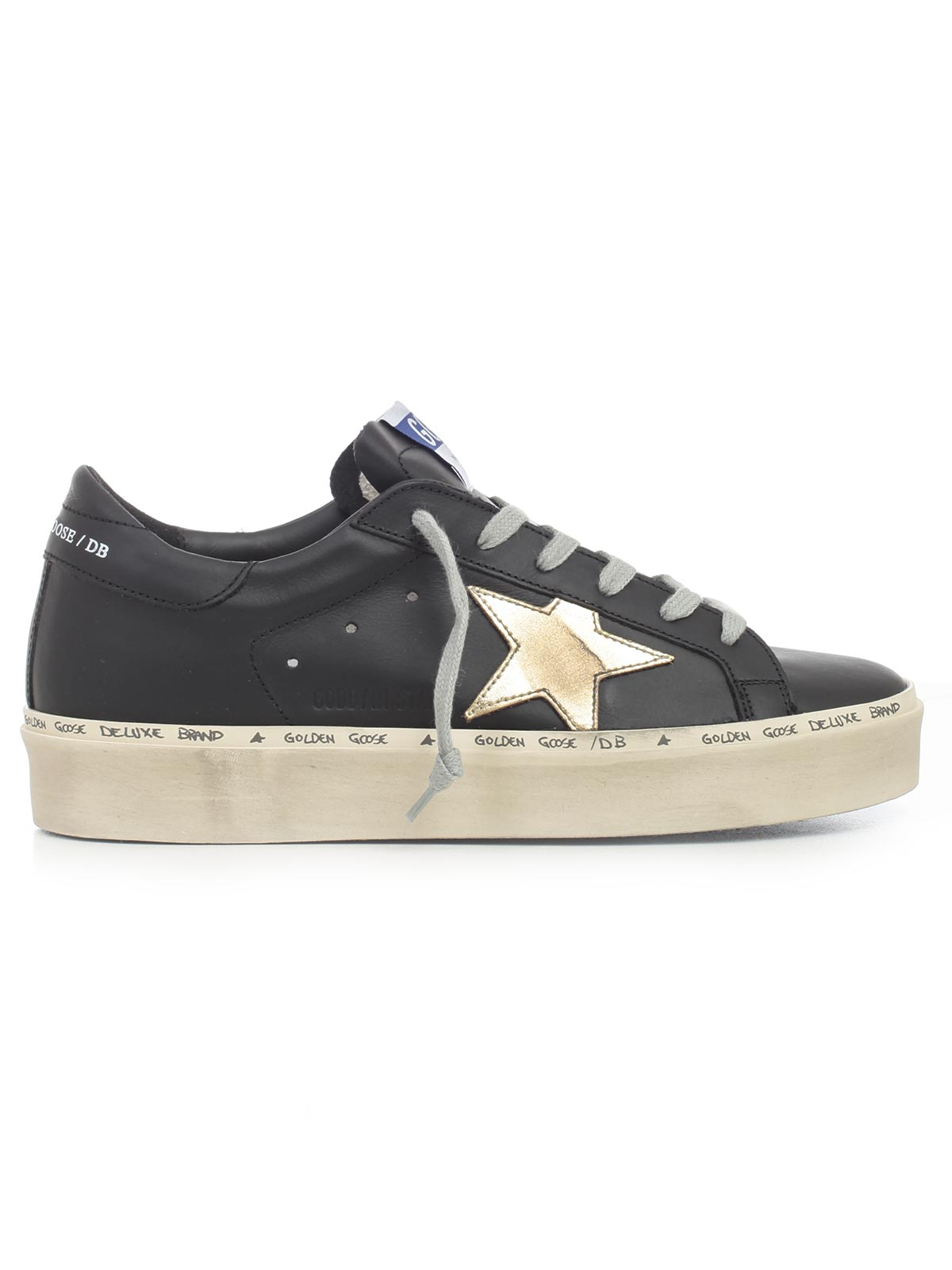 142d6792295a8 Golden Goose Deluxe Brand Shoes G33WS945.A6 - A6 BLACK GOLD LEATHER ...
