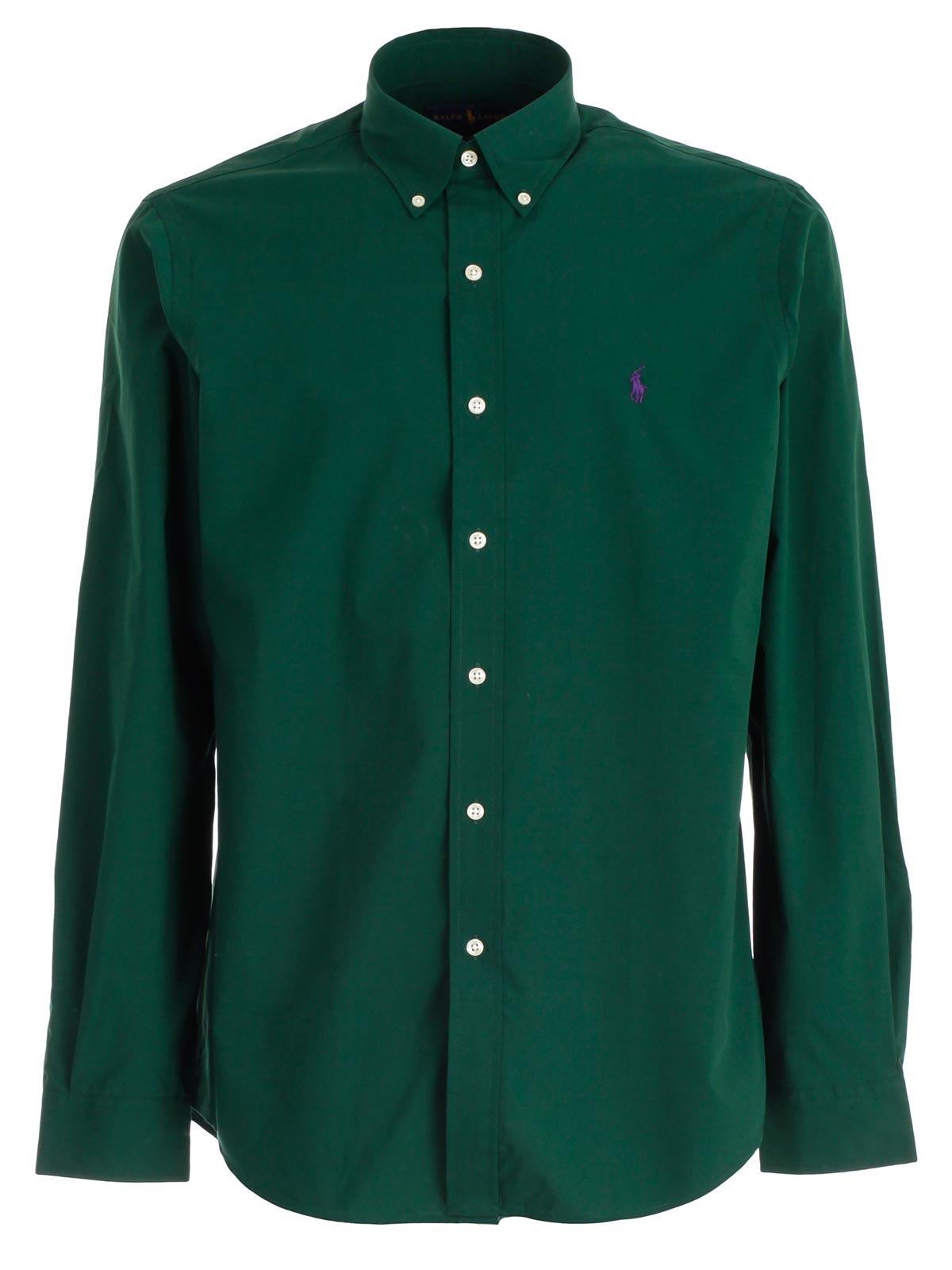 Polo Ralph Lauren Shirt 710.716296.003 - COLLEGE GREEN.Bernardelli ... 536f41da6